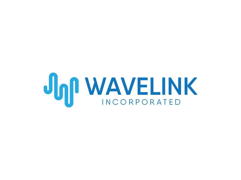 Wavelink Logo Process contract government branding wavelength wave length wave logo