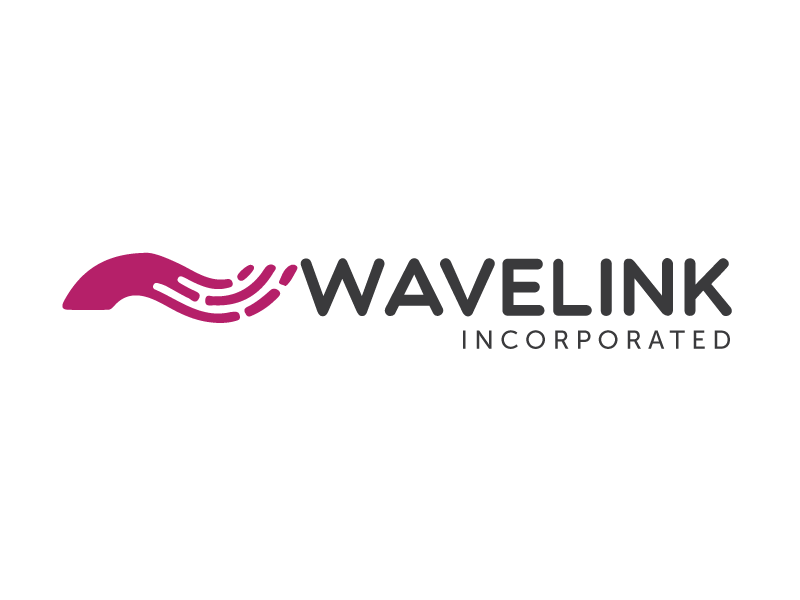Wavelink logo Process contract government branding wavelength wave logo
