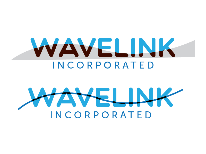 Wavelink logo Process logo wave wave length wavelength branding government contract