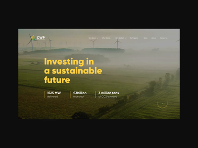 CWP Renewables - Website Development and 3D Modeling javascript vector html web desgin ui ux interactive design website energy green sustainable renewables