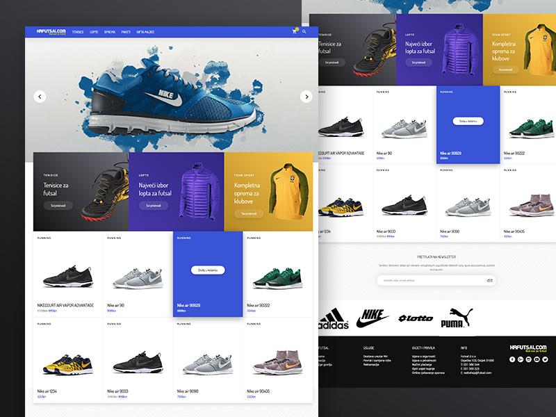 b8b2d7ac271c Futsal - Sport Webshop by Jaspero Co.   Dribbble   Dribbble