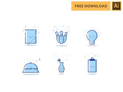 Freebies illustrations - Icons set adobe illustrator stroke. minimal illustrations freebies free icon set icon