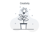 Creativity illustration