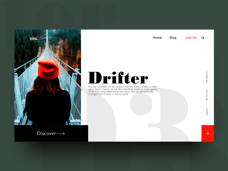 Run and Dream web design photography nature interface typography mondrianizm clean minimal landing ui ux