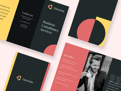 Business Brochure print leaflet layout template brochure design bannersnack