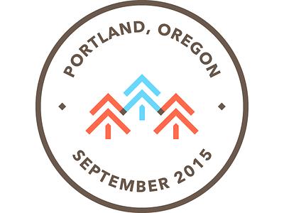 Overland No. 1: Portland oregon trees portland adventure journey essay writing nomad travel badge logo