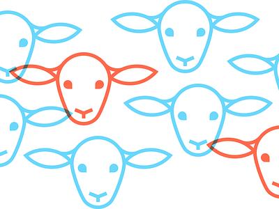WWOOF Lambs sheep lambs animals portland adventure journey essay writing nomad travel illustration