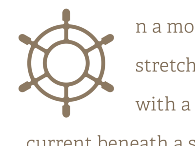 Nautical Drop Cap typography sailing boat ship nautical ships wheel illustration icon drop cap