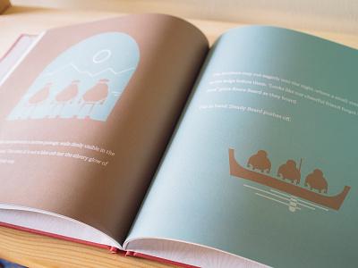 *Mystery* Storybooks Night Spread illustration book design storybook book scandinavian art indie game game burly men at sea