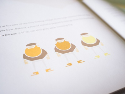 Characters for *Mystery* Storybooks illustration book design storybook book scandinavian art indie game game burly men at sea