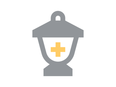 Lantern Mark logo design cross health medical healthcare lantern design mark logo