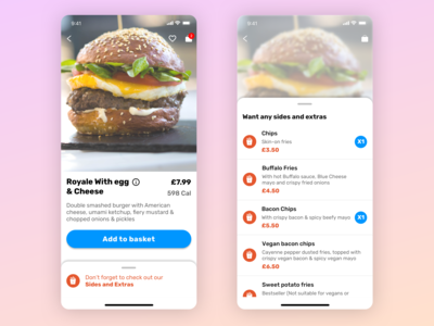 Food ordering - Dish page