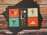 Holy Week Print Design