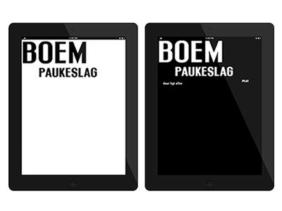 Boem Paukeslag as an e-book epub typography poetry design graphic book ebook e-book
