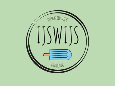 IJswijs cream ice design graphic identity logo