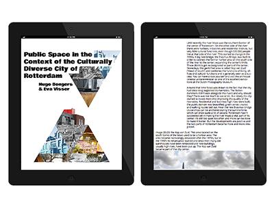 Public space (...) in Rotterdam e-book epub design graphic book ebook e-book