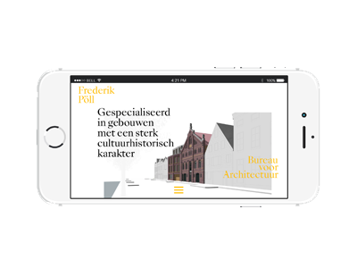 Frederik Pöll Bureau voor Architectuur architecture webdesign typography design graphic identity