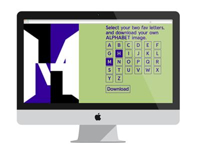 Alphabet 2.0 alphabet html5 coding javascript webdesign typography design graphic