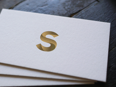 Business cards - S monogram bulgaria design sofia s monogram logo business cards berlin