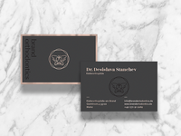 Business cards for Brand Orthodontics