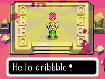 Hello Dribbble! the legend of zelda 16 bit pixel art first shot link zelda