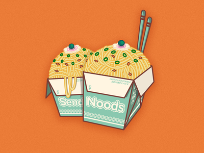 Send Noods spaghetti send orange funny sticker stickers boobs chinese food noodles noods