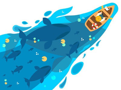 Whales fisherman fisher whale whales fish character vectorart illustrator drawing vector illustration