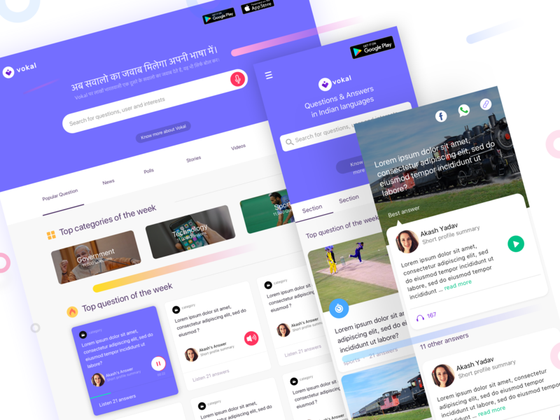 Audio Question & Answer Platform by Akash Yadav on Dribbble