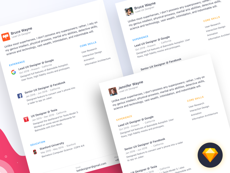 The Simple Resume Project by Akash Yadav on Dribbble