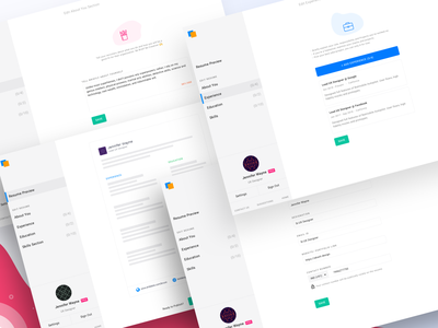 Simple Resume Project Update portfolio cv resume simple sketch website flat web ux ui design
