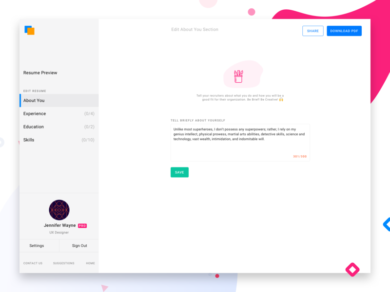About Me Sections By Akash Yadav Dribbble Dribbble