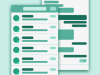 Messenger Wireframe