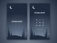 Starlight App: Splash and Log In