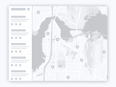 Map Application Wireframe