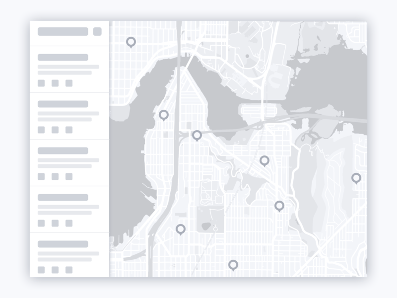 Map Application Wireframe wireframe interface design design ui ui design map marker map design points of interest mapping map pin maps application design app design application desktop application desktop design desktop app desktop map ui map