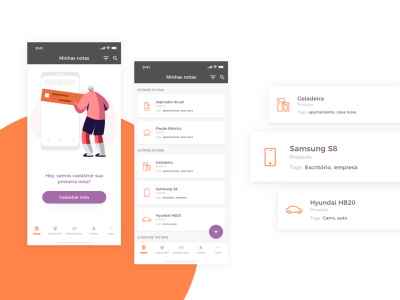 App Nexa - Home uxdesign ux uidesign ui startup shop product design product paper organize onboarding money mobile ios invoice guarantee fintech design brazil app