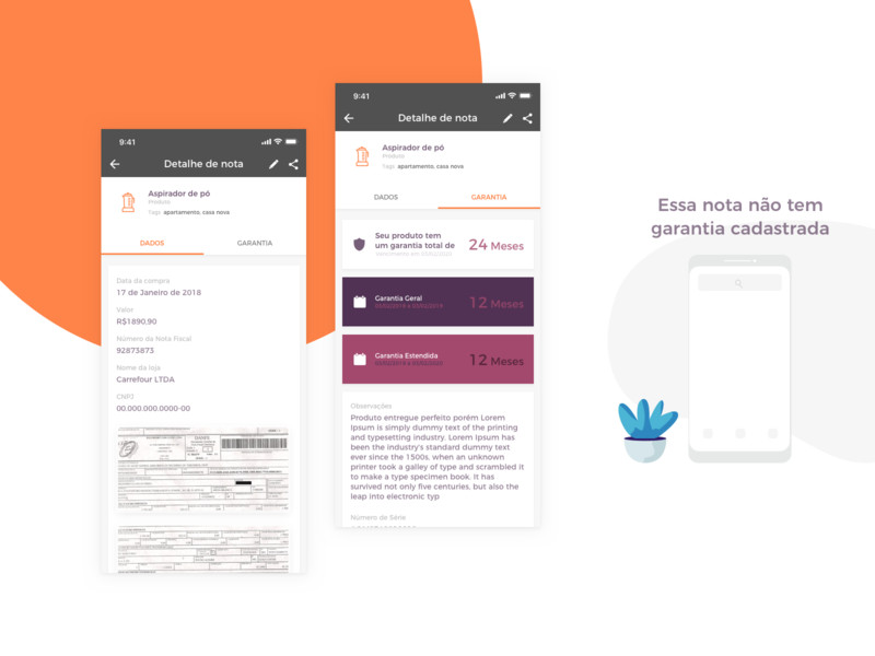 App Nexa - Invoice uxdesign ux uidesign ui startup shop product design product paper organize onboarding money mobile ios invoice guarantee fintech design brazil app