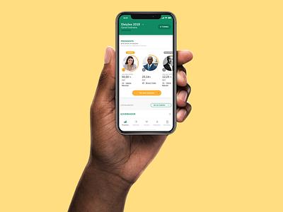 Resultados App - Home presidential brazil elections votes mobile design app ux ui