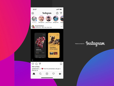 Instagram - Privacy Story privacy story instagram product mobile app design ux ui sketch