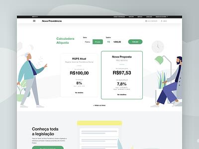Social security calculator - Website reponsive brazil product mobile design ux ui