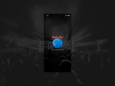 App concept Rock In Rio Festival - Splash