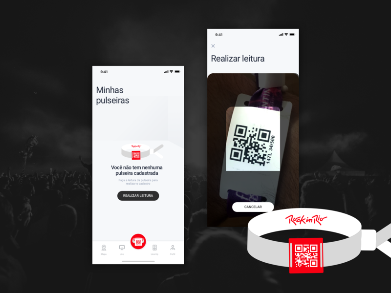 App concept Rock In Rio Festival - Cashless QR Code by