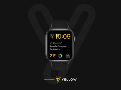 Yellow Watch App - Locate shared scooters route phone shared scooters bikes scooters map brazil startup product mobile app design ux ui watchos watch apple watch