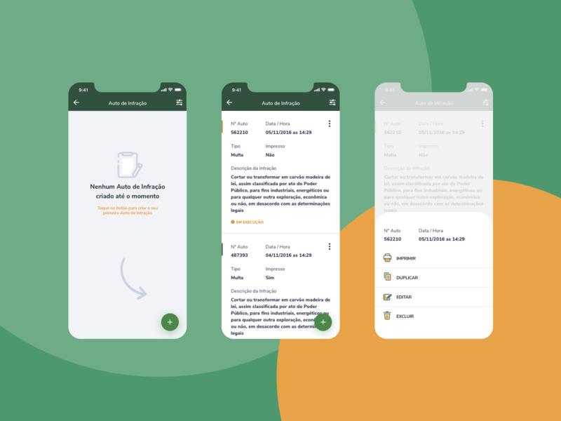 IBAMA AI-e Fiscalização - Auto de Infração ux user interface user experience ui product design product mobile ibama goverment gov design brazil br app