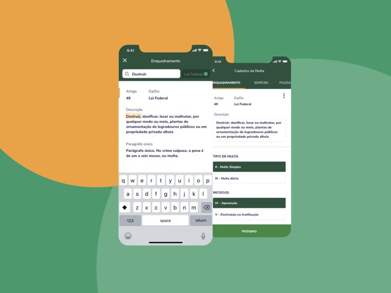 IBAMA AI-e Fiscalização - Legislation book ux user interface user experience ui product design product mobile ibama goverment gov design brazil br app