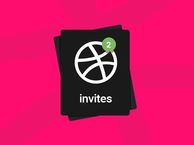 Dribbble Invite  2 invites draft talented designers dribbble invites