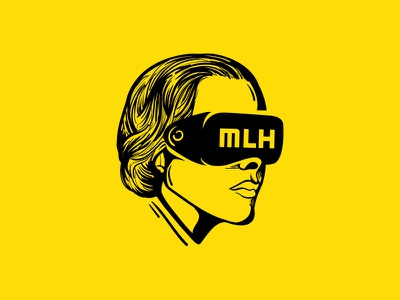 Ada Lovelace  lines design illustration vr 2017 hacking mlh tshirt lovelace ada