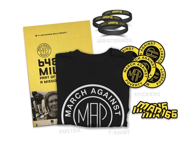March Against Poverty  love stickers badge design tshirt graphic design campaign poverty march summer16 map swag