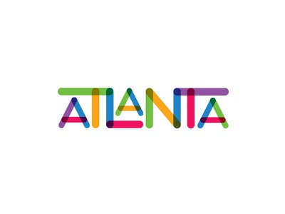 Colors of Atlanta filter snapchat type typography rainbow creativesouth atl colors ai transparency atlanta