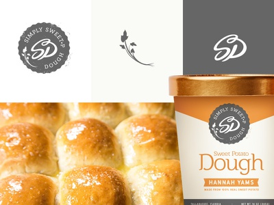 Simply Sweet-P Dinner Rolls (exploration) branding logo identity bakery chef food package bread dinner rolls baking dough package design